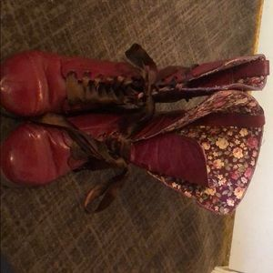 Shoes - Red combat boots